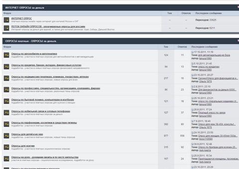 forum-opros.ru — Форум по платным опросам