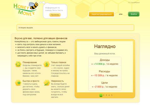 """honeymoney.ca - Контроль финансов """"ХаниМани"""""""