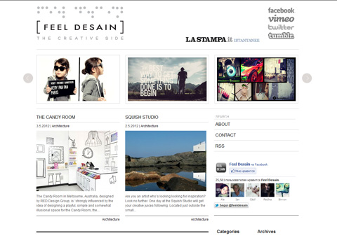 feeldesain.com - Зарубежный сайт о дизайне