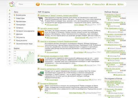 spooo.ru - социальная сеть интернет-предпринимателей