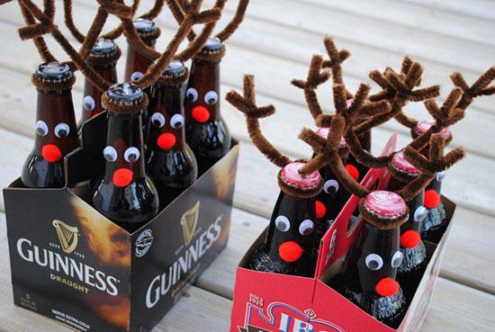 новогодний олень из бутылки
