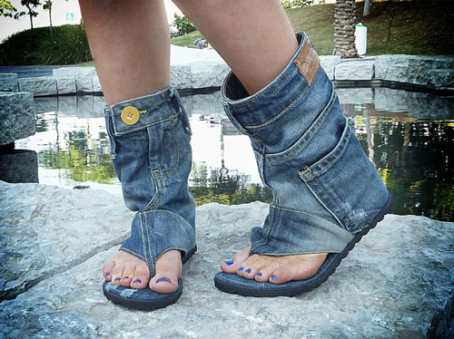 Из джинсов своими руками платье