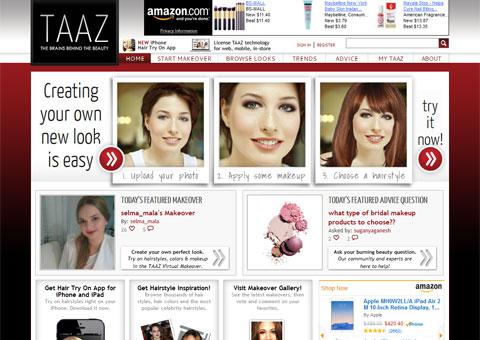 taaz.com - Подбор причесок, макияжа в онлайне