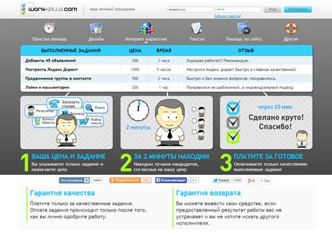 Сервис Work-zilla.com - Ваш личный помощник