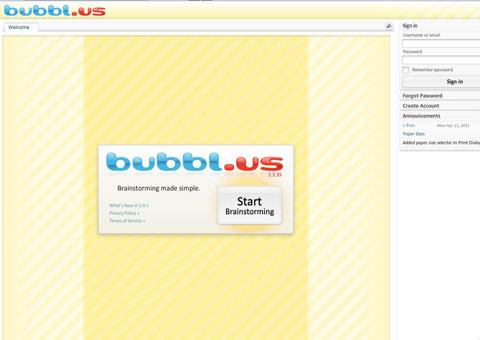 BUBBL - программа для создания схем-презентаций