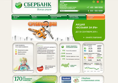 sbrf.ru - официальный сайт Сбербанка России
